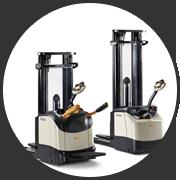 步行式和站驾式电动托盘车堆高机